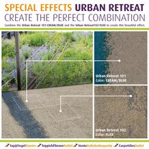 Combine the Urban Retreat  Cream/Blue       and the Urban Retreat  Flax  to create this beautiful effect.